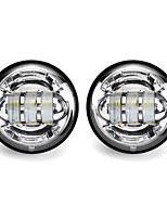 cheap -2Pcs 4 30W 1500LM 6000K 10-32V IP67 Motorcycle LED Headlights Flood Fog Passing Lights