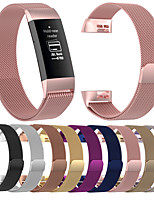 cheap -For Fitbit Charge 3 Milan Strap  Stainless Steel Milan Ring Replacement Wristband