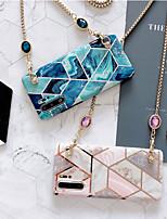 Недорогие -samsung s20ultra шить геометрический мраморный чехол для телефона note10plus роскошный горный хрусталь диагональная металлическая цепь s10e защитный чехол