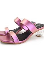 cheap -Women's Sandals Summer Fantasy Heel Open Toe Daily PU White / Pink / Blue