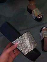 cheap -Women's Slippers & Flip-Flops Summer Flat Heel Open Toe Daily PU Black / Yellow / Pink