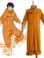 cheap -Inspired by Fire Force Anime Cosplay Costumes Japanese Cosplay Suits Leotard / Onesie For Men's Women's