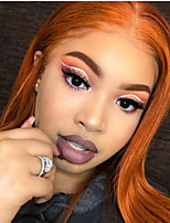cheap -Synthetic Lace Front Wig Straight Tara Middle Part Lace Front Wig Long Orange Synthetic Hair 22-26 inch Women's Heat Resistant Women Hot Sale Red / Glueless