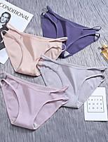 cheap -Women's Basic Brief - Normal Low Waist Blushing Pink Khaki Blue One-Size