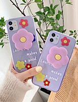 cheap -Case For Apple iPhone 11 / iPhone 11 Pro / iPhone 11 Pro Max Shockproof / with Stand Back Cover Flower TPU