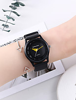 cheap -Women's Quartz Watches New Arrival Fashion Black Silicone Chinese Quartz Black Chronograph Creative New Design 2 Piece Analog One Year Battery Life
