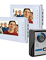cheap -7 Inch Wire Vidoe Door phone Home Security Intercom System Unlock 1 Camera 2 Monitor P816FA12