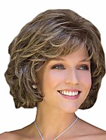 cheap -Synthetic Wig Curly Matte Layered Haircut Wig Short Light Blonde Synthetic Hair 14 inch Women's Easy dressing Sexy Lady curling Blonde