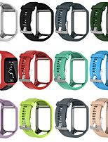 cheap -Watch Band for TomTom spark runner2/3 TomTom Adventurer / TomTom Golfer 2 / TomTom Spark 3 TomTom Sport Band Silicone Wrist Strap