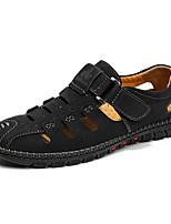 cheap -Men's Summer Outdoor Sandals PU Non-slipping Black / Yellow / Khaki