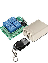 cheap -433Mhz Wireless Remote Control Switch DC 12V 4ch relay Receiver and Transmitter