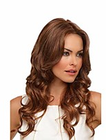 cheap -Synthetic Wig Curly Middle Part Wig Short Brown Synthetic Hair 24 inch Women's Sexy Lady Middle Part curling Brown