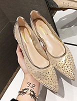 cheap -Women's Wedding Shoes Summer Flat Heel Pointed Toe Wedding Suede Beige