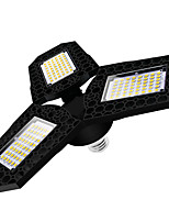 cheap -1pcs E27 60W 40W 80W LED Garage Light Super Glare Ceiling Light For Home Warehouse Workshop AC85-265V Folding Three-Leaf Deformation Lamp