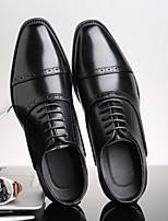cheap -Men's Spring / Summer Business Daily Oxfords PU Black / Brown