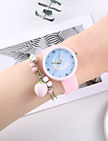 cheap -Women's Quartz Watches New Arrival Fashion Blue Pink Silicone Chinese Quartz Blue Blushing Pink Creative Noctilucent Casual Watch 2 Piece Analog One Year Battery Life