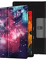cheap -Case For Lenovo Yoga Smart Tab YT-X705F Shockproof / with Stand / Flip Full Body Cases Milky Way PU Leather Case For Lenovo Yoga Smart Tab YT-X705F