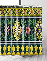 cheap -Bathroom Shower Curtains & Hooks Rainbow Neoclassical Polyester Waterproof