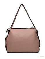 cheap -Women's Zipper Cowhide Crossbody Bag Solid Color Blushing Pink