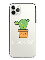 cheap -Case For Apple iPhone 11/11 Pro/11 Pro Max/XS/XR/XS Max/8 Plus/7 Plus/6S Plus/8/7/6/6s/SE/5/5S Transparent Pattern Back Cover Cute Cactus Soft TPU