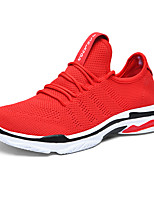 cheap -Women's Trainers / Athletic Shoes Summer Flat Heel Round Toe Sporty Athletic Elastic Fabric / Tissage Volant Running Shoes Black / Red / Gray