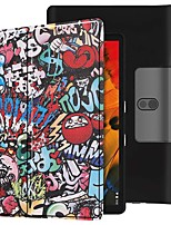 cheap -Case For Lenovo Yoga Smart Tab YT-X705F Shockproof / with Stand / Flip Full Body Cases Graffiti PU Leather Case For Lenovo Yoga Smart Tab YT-X705F