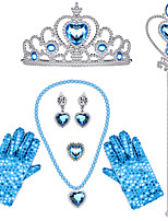 cheap -Cinderella Princess Elsa Princess Cosplay Jewelry Accessories Girls' Movie Cosplay White / Black / Purple 1 Ring Gloves Crown Children's Day Masquerade Plastics / Necklace / Earrings / Wand