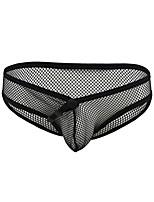 cheap -Men's Cut Out Briefs Underwear - Normal Low Waist Black M L XL