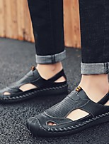 cheap -Men's Summer Outdoor Sandals PU Non-slipping Light Brown / Dark Brown / Black