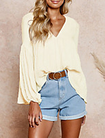 cheap -2020 SUMMER Trendy Casual V-Neck Loose Top