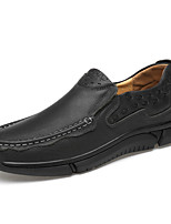 cheap -Men's Fall / Spring & Summer Casual / British Daily Party & Evening Loafers & Slip-Ons Cowhide Breathable Non-slipping Wear Proof Black