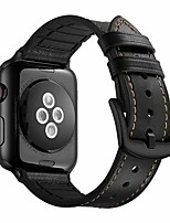 cheap -Compatible Apple Watch Band 44mm 42mm 40mm 38mm Genuine Leather and Silicone Sports Watch Band with Protective Case Replacement for iWatch Series 5 4 3 2 1