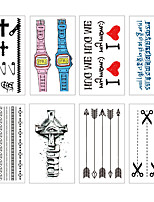 cheap -8 pcs Temporary Tattoos Water Resistant / Waterproof / Mini Style / Safety Face / Body / Hand Water-Transfer Sticker Body Painting Colors