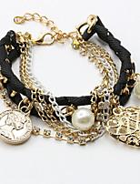cheap -Women's Bracelet Classic Wedding Birthday Vintage Theme European Trendy Casual / Sporty Ethnic French Alloy Bracelet Jewelry Blushing Pink / White / Black For Date Festival
