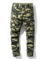 cheap -Men's Hiking Pants Hiking Cargo Pants Camo Summer Outdoor Standard Fit Breathable Quick Dry Sweat-wicking Comfortable Cotton Pants / Trousers Bottoms Running Camping / Hiking Hunting Dark Grey Red