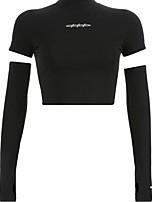 cheap -Women's Graphic Print Slim T-shirt Daily Black