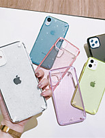 cheap -Shockproof Shining Glitter Bling Phone Case For iPhone SE 2020 /  11 / 11Pro / 11Pro Max / X / XS / XR / XS Max /  8 Plus / 8 / 7Plus / 7 / 6 / 6S Plus Transparent Soft TPU Back Cover