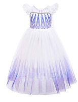 cheap -Frozen Princess Dress Girls' Movie Cosplay Halloween Christmas White Dress Christmas Halloween / Cap Sleeve