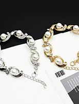 cheap -Women's Bracelet Classic Wedding Birthday Vintage Theme European Trendy Casual / Sporty Ethnic French Alloy Bracelet Jewelry Gold / Silver For Date Festival