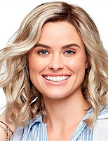 cheap -Synthetic Wig Curly Asymmetrical Wig Short Light Brown Synthetic Hair 12 inch Women's Life Classic Women Light Brown