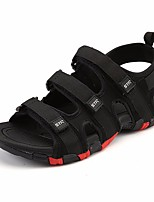 cheap -Men's Summer Outdoor Sandals PU Non-slipping Black / Brown / Gray