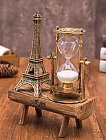 Недорогие -творческий ретро железная башня песочные часы украшения простой современный домашний кабинет деревянные качели песочные часы украшения 20 * 14.5 см
