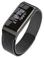 cheap -B56 Color Screen 3D Dynamic Interface All-Day Heart Rate Blood Pressure Monitor Multi-Sports Mode Smart Bracelet Watch Black Steel