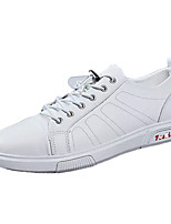 cheap -Men's Summer Casual Daily Sneakers Nappa Leather / PU Non-slipping White / Black