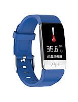 Недорогие -t1s мужчины женщины smartwatch android ios bluetooth водонепроницаемый сенсорный экран монитор сердечного ритма измерение артериального давления спорт экг + ppg таймер секундомер шагомер напоминание о
