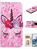 cheap -Case For Samsung Galaxy S20 / Galaxy S20 Plus / Galaxy S20 Ultra Wallet / Card Holder / with Stand Full Body Cases Unicorn PU Leather / TPU for Galaxy A51 / A71 / A80 / A70 / A50 / A30S / A20
