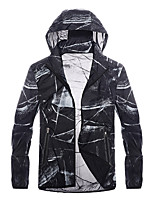 cheap -Women's Hiking Skin Jacket Hiking Jacket Summer Outdoor Waterproof Windproof Sunscreen Breathable Jacket Hoodie Top Running Hunting Fishing White / Black / Quick Dry / Quick Dry