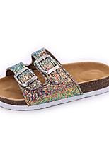 cheap -Women's Sandals Flat Sandal Summer Flat Heel Open Toe Daily PU Black / Pink / Green