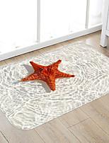 Недорогие -Морская звезда печать высокого качества пены памяти коврик для ванной и коврик для двери нескользящий абсорбент супер удобный фланель коврик для ванной коврик-кровать