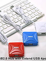 cheap -SSK SHU027 USB2.0 Hub with Extend USB 4ports 60mm cable for laptop desktop play and play support hot swapping
